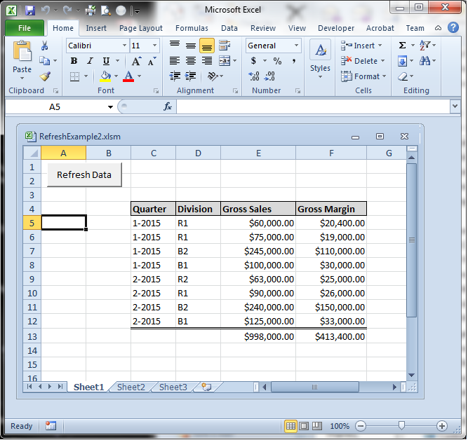 Code Listing-Excel VBA to Extract Data from an Access