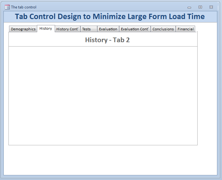 MS Access Tab Control with Multiple Subforms – Access Jitsu