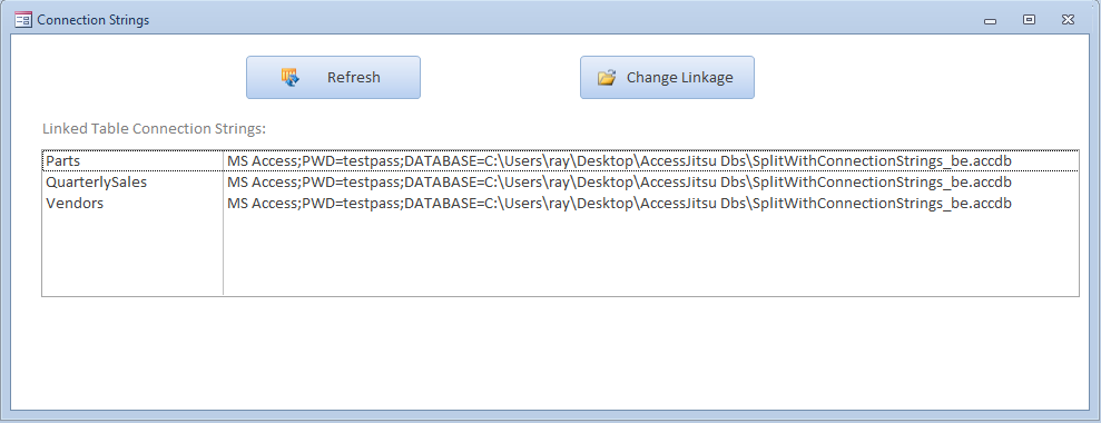 Microsoft Access Split Databases: Connection Strings ...