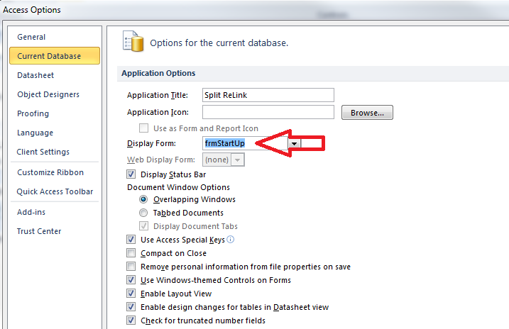 Microsoft Access Split Databases: Automatically Re-Link