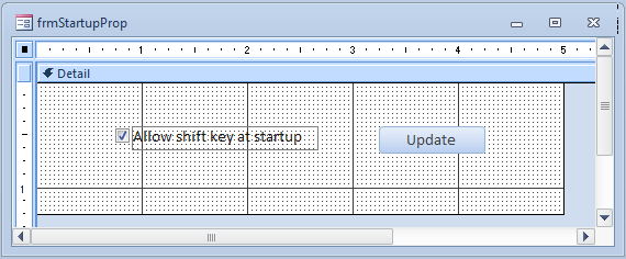 Microsoft Access Disabling the Shift-Key (the AllowBypassKey