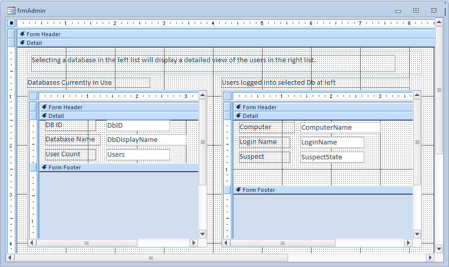 Microsoft Access An Admin Db Part 2 – Jet User Roster, More